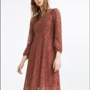 Zara Cinnamon Lace Dress.